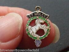 Antico vintage tedesco argento sterling smalto ST Wolfgang Cavallo Fob charm medaglia