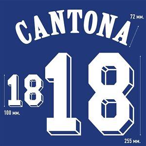 Cantona 18. France Home football shirt 1992 - 1993 FLOCK NAMESET NAME SET PRINT