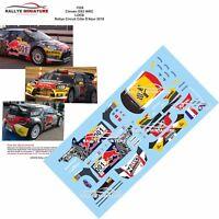 DECALS 1/43 REF 1528 CITROEN DS3 WRC SEBASTIEN LOEB RALLYCIRCUIT 2016 RALLYE