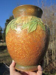 Large Vintage Unmarked Roseville Pottery Vase