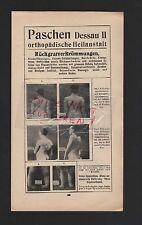 PASCHEN DESSAU, Werbung 1911, Orthopädische Heilanstalt