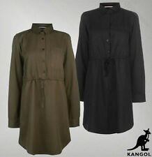 Ladies Kangol Button Fastening Lightweight Long Sleeve Shirt Dress Sizes 8-16