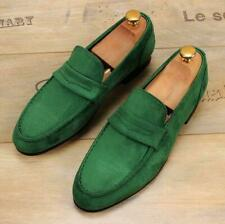 Men's Suede Loafers Slip on Suede moccasin-gommino Driving British Style Shoes