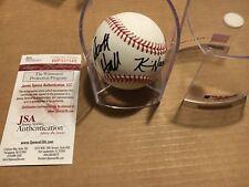 Scott Hall Kevin Nash NWO WWF WCW Signed Autograph ROMLB Baseball JSA