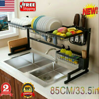 Dish Drainer Dish Drying Rack Over Sink Display Drainer Kitchen Organizer US