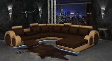 Ecksofa Textil Stoff Polster Wohnlandschaft XXL Big Sofa Couch Garnitur Berlin3