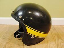 Vintage Grant RG-9 Ski-Doo Snowmobile Helmet Black Yellow 245 7  Medium