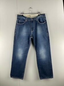 Colorado Mens Blue Denim Relaxed Fit High Rise Straight Leg Jeans Size 34R