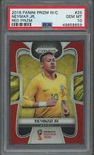 2018 Panini Red Prizm Soccer World Cup #25 Neymar Jr. Brazil 59/149 PSA 10