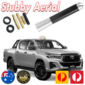 SILVER ANTENNA / AERIAL STUBBY BEE STING For Toyota Hilux & SR5 - RAV4