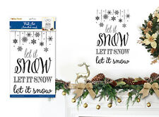CHRISTMAS SONG wall sticker 1 big decal festive quote LET IT SNOW winter flake