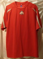 Ohio State University Buckeyes Red Short Sleeve Polyester T-Shirt Mens Size L