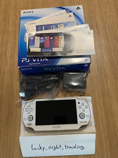 PS Vita Crystal White PCH 1000 ZA02 BOX Console Charger USED Sony Playstation
