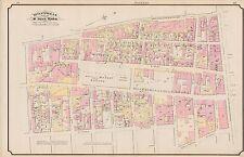 1890 MONTREAL CANADA, ST. ANN'S WARD HAY MARKET SQUARE, BALMORAL HOTEL ATLAS MAP