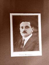 Stampa del 1923 Carlo Praderio Collaboratore dell'Illustrazione Italiana
