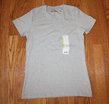 New Womens EDDIE BAUER Short Sleeve Gray Shirt Size M Medium