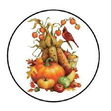 48 Holiday Pumpkins!!!  ENVELOPE SEALS LABELS STICKERS 1.2