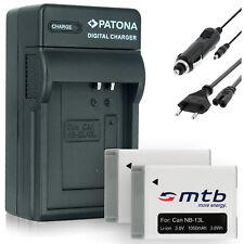 2x Batterie + Chargeur NB-13L pour Canon PowerShot G7 X (1050mAh - mit INFOCHIP)
