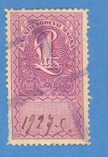 LATVIA LETTLAND 1 LATS REVENUE STAMP 3540