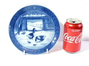1969 Royal Copenhagen Christmas Plate In the Old Farmyard