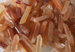 Tangerine Quartz Crystal Points 20g Tibetan Orange Unpolished Finger Wands 7-9 M