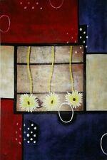 Hochwertiges Handgemaltes Ölbild Abstrakt auf Holzrahmen gespannt 60x90 cm