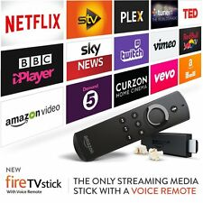 AMAZON FIRE TV MK2  LATEST STICK WITH ALEXA REMOTE AND LATEST HD IPTV SOFTWARE