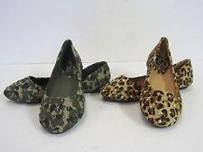 niña Spot On Lona Muñequita Zapatos Color Leopardo & Camuflaje Tallas 10-2