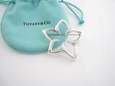Silver Starfish Plumeria Flower Brooch! Tiffany & Co Rare 1996