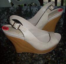 Jessica Simpson GENETTE Sandalias Con Cuña / Zapatos Talla 10 NEW