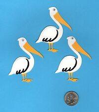 "3 Pelican Die Cuts - Beach Die Cuts - Layered 3"" Pelican Die Cuts - Scrapbooking"