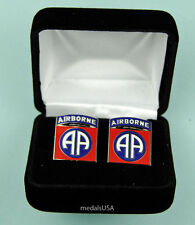 82nd Airborne Division Army Cuff Links in Presentation Gift Box Cufflinks