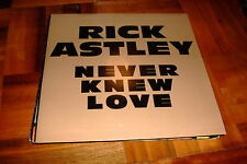 "RICK ASTLEY SPANISH 7"" SINGLE SPAIN SAME SIDED PROM0 NEVER KNEW"