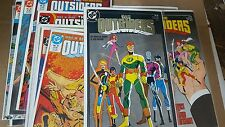 from Batman Comic Lot The outsiders 1-28 full nm bagged boarded 1985 annual 1