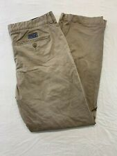Nautica Men's Beige Straight Leg Flat Front Casual Chino Pants Size 34 X 32