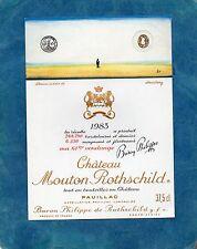 PAUILLAC 1GCC ETIQUETTE CHATEAU MOUTON ROTHSCHILD 1983 37.5 CL DECOREE§12/06/17§