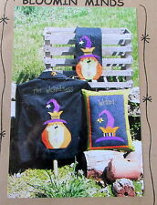 Bloomin Minds Applique Witch craft pattern Her Wickedness tablerunner pillow