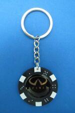INFINITY LOGO POKER CHIP DICE KEYRING KEY RING CHAIN #120