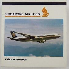 NEW HERPA WINGS 504553 SINGAPORE AIRLINES AIRBUS A340-300E W. STAND 1:500 SCALE