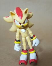 """Sega Jazwares 3"""" Sonic The Hedgehog Super Shadow Jointed Action Figure Toy"""
