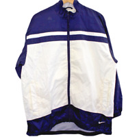 C79 Vintage Nike Swoosh Color Block Windbreaker Full Zip Jacket Men's Size Large