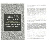 H6  How To Find a Black Cat in a Dark Room: The Psychology UNCORRECTED PROOF ARC
