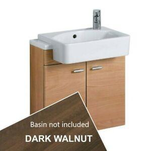 Ideal Standard Concept 500mm 2 Door Dark Brown Slimline Wall Vanity Art E6458SX