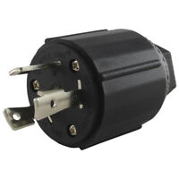 Conntek 60311 L5-30P 3 Prong Locking 30 Amp 125 Volt Male Plug, Black