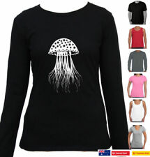 Cotton Long Sleeve Graphic Tees for Women
