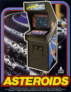 Asteroids Free play and High Score Save Kit Arcade