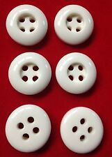 6x John Lewis Glossy white buttons thick chunky Union Knopf 20mm by 5mm QUALITY