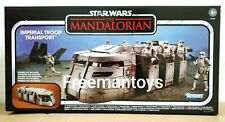 IN HAND HASBRO STAR WARS MANDALORIAN IMPERIAL TROOP TRANSPORT VINTAGE COLLECTION