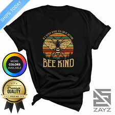 Be Kind T Shirt Womens Mens Save Bees Retro Birthday Gift Tee Super Quality