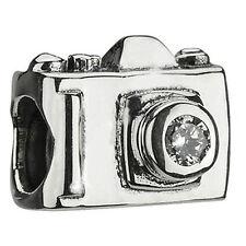 Digital Camera w/ CZ Quality Charm Bead European European Kay European Compatibl